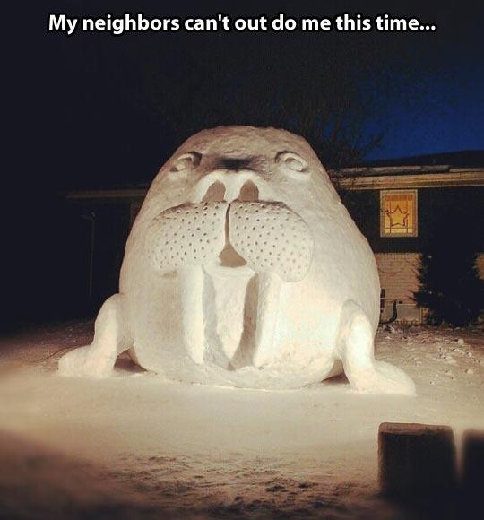 Snow walrus…
