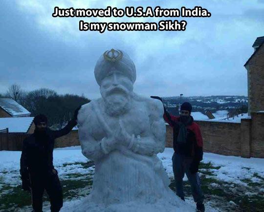 funny-snowman-USA-India-sky-winter-Sikh