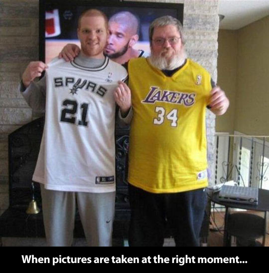 funny-son-dad-Tv-basketball-game-Spurs-Lakers