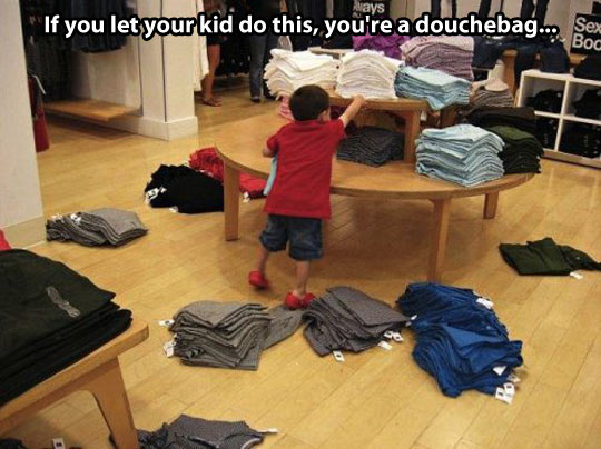 Proof of bad parenting…
