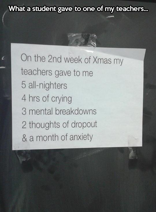 Teachers being teachers even during Christmas…