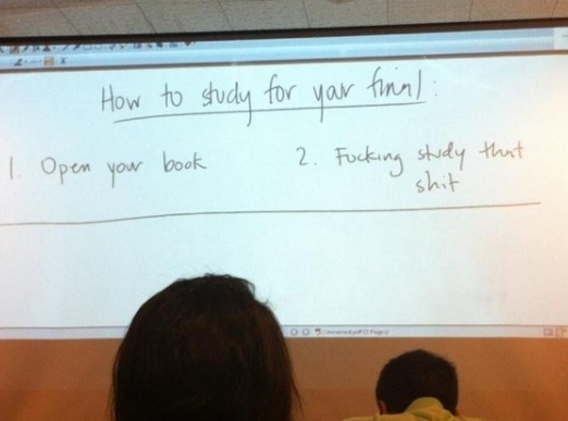 Advice from my teacher…