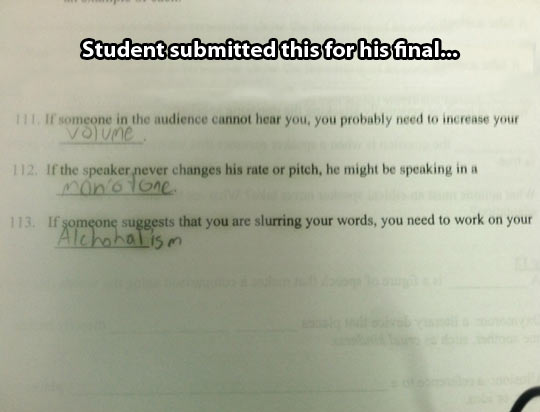 Those are some valid answers…