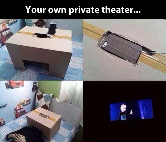 Private theater when you're alone…