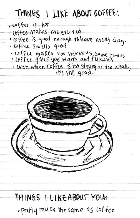 Things I like about coffee and you…