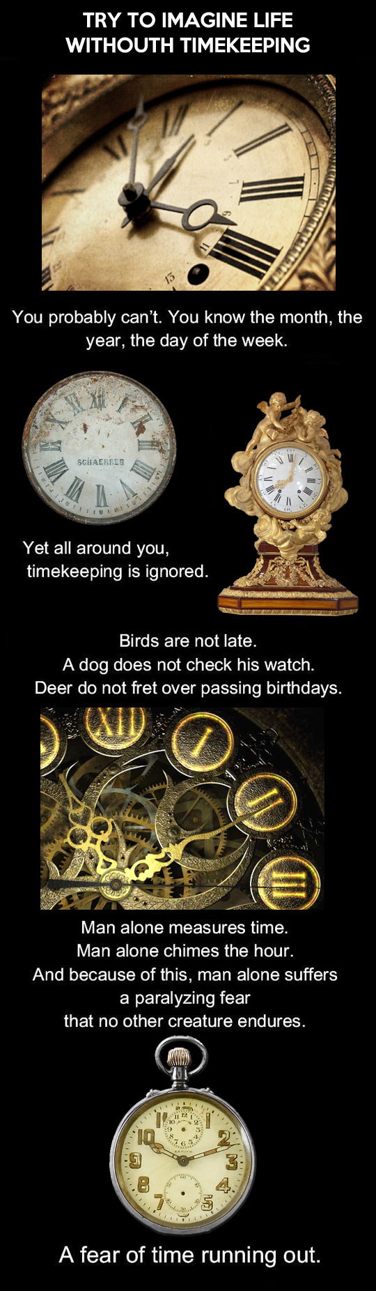 Imagine life without timekeeping…