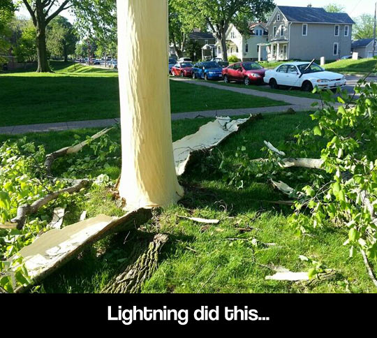 Lightning strike aftermath…