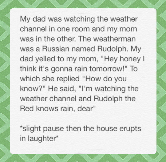 Rudolph dad joke…