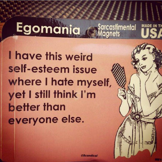 Weird self-esteem issue…