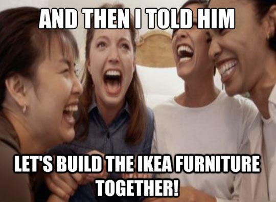 funny-women-laughing-IKEA-furniture