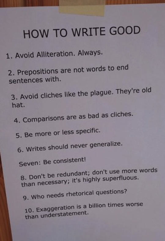 How to write good…