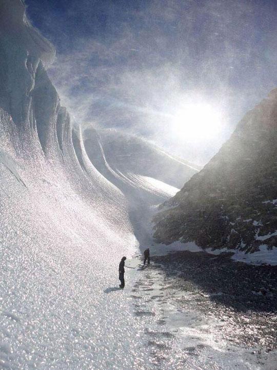 Beautiful frozen wave in Antarctica