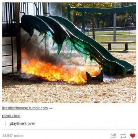 Like going down a metal slide on a hot day
