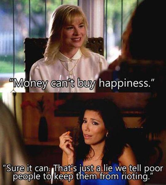 Rich people's secret