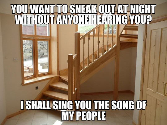 Sneaking out of the house