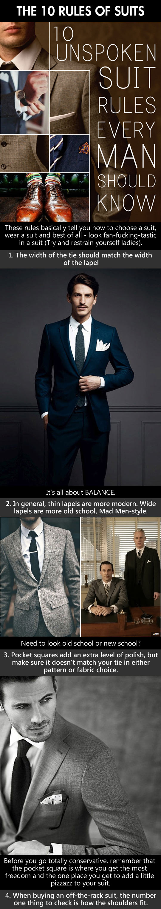 The 10 rules of suits