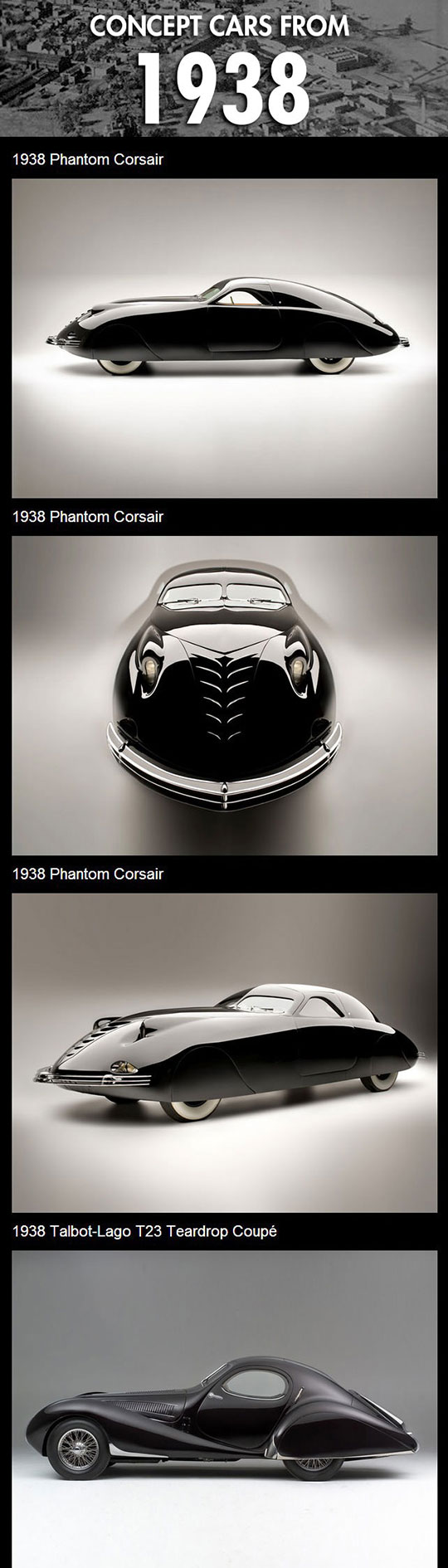 Concept cars from 1938...