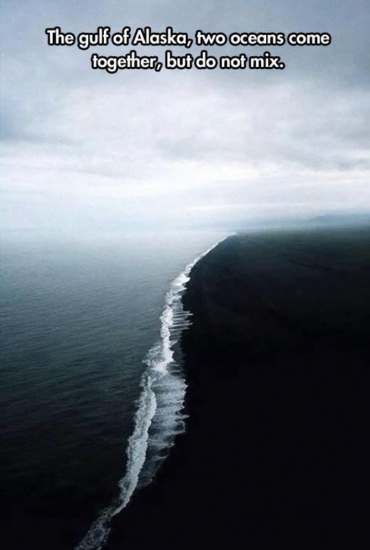 Two oceans come together…