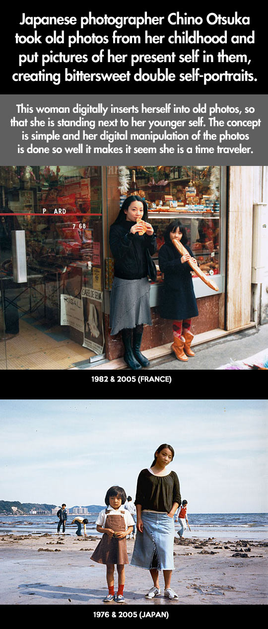 Cool Japanese photographer time travel photos