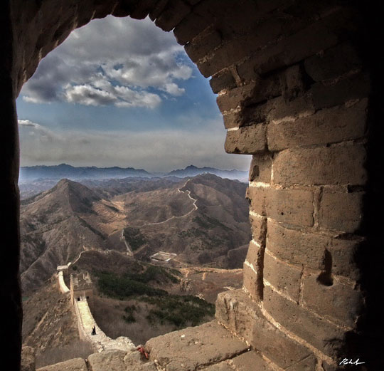 Amazing view from the Great Wall of China…
