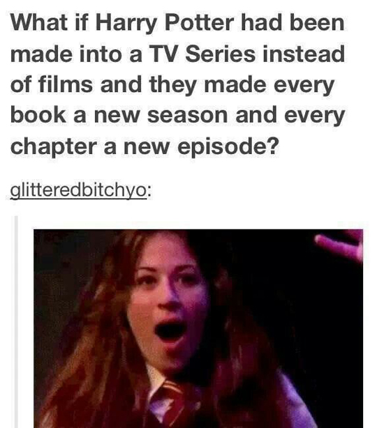 Harry Potter as a TV series…