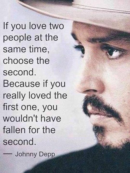 Johnny Depp on love…