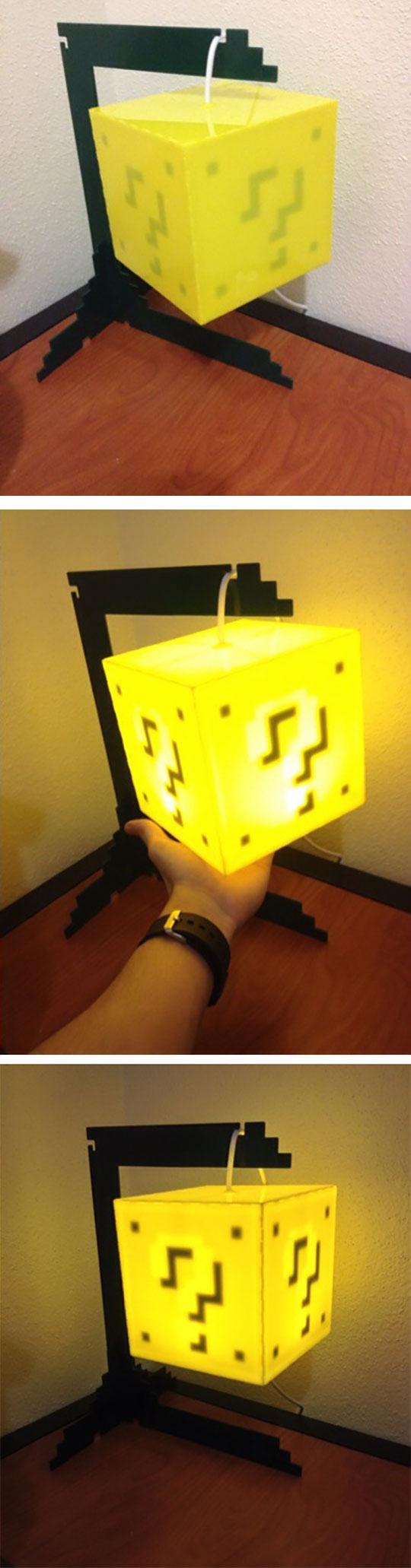 Mario coin lamp…