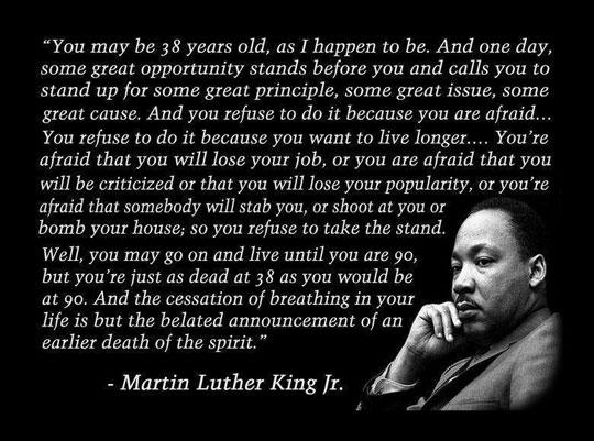 Amazing MLK quote…