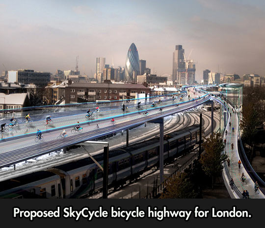Bicycle highway for London…