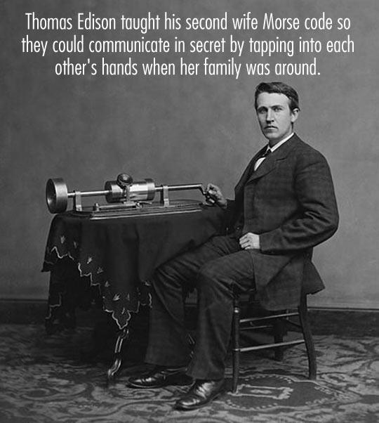 Tomas Edison's secret love code…
