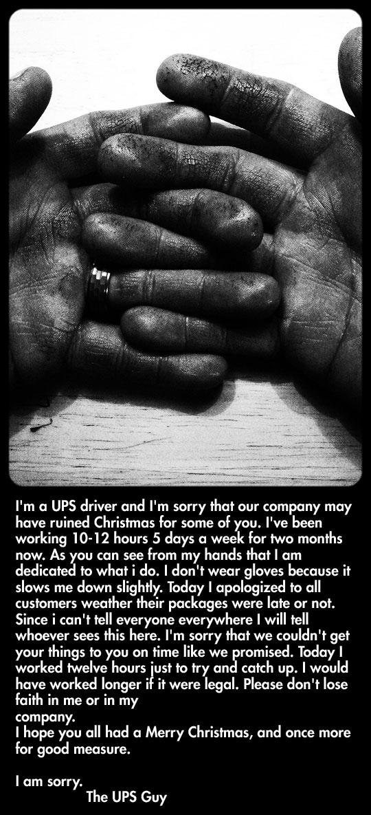 A honest apology…