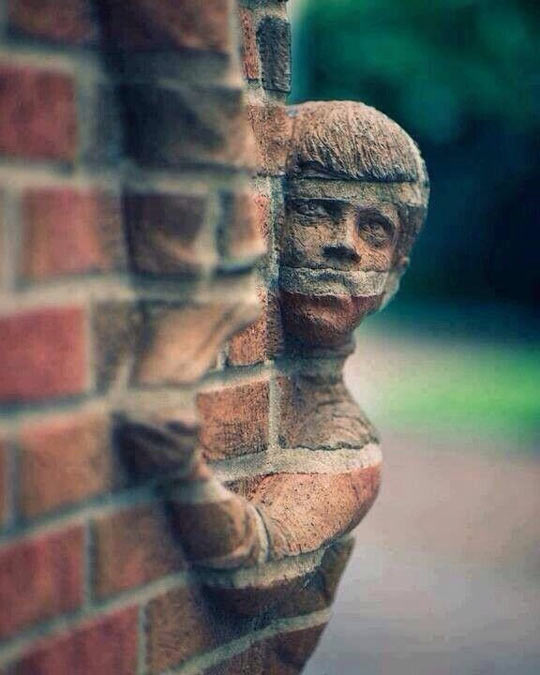 Mind blowing brick art…
