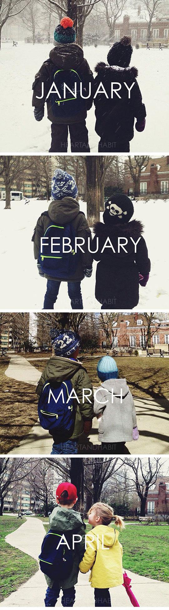Same spot every month calendar...