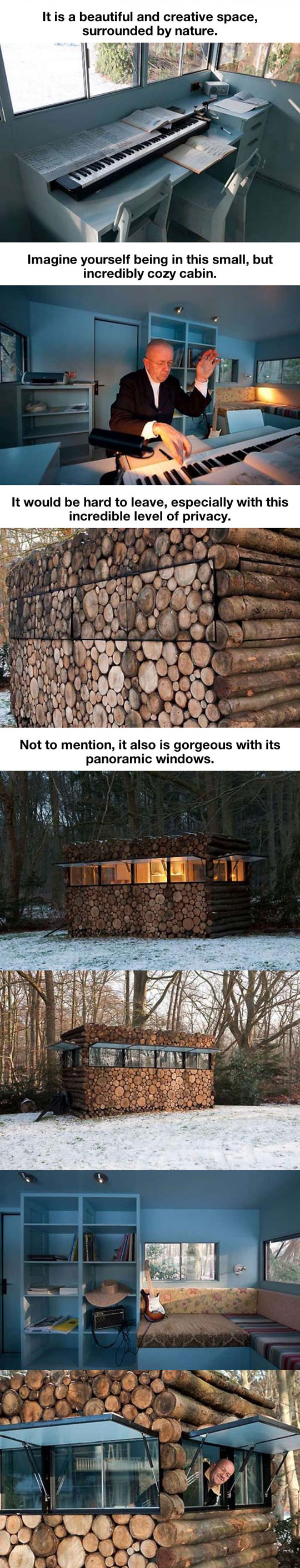 cool-cabin-forest-logs-concealed-snow-music