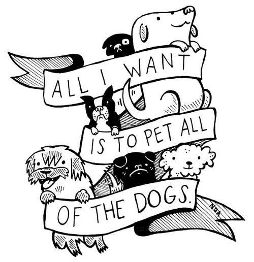 cool-cartoon-pet-dogs-black-white
