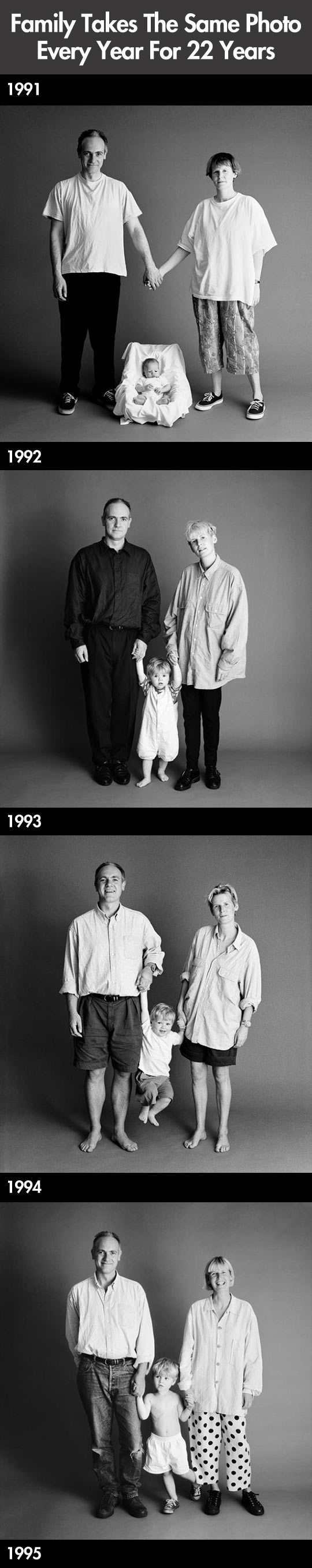 The same photo for 22 years...