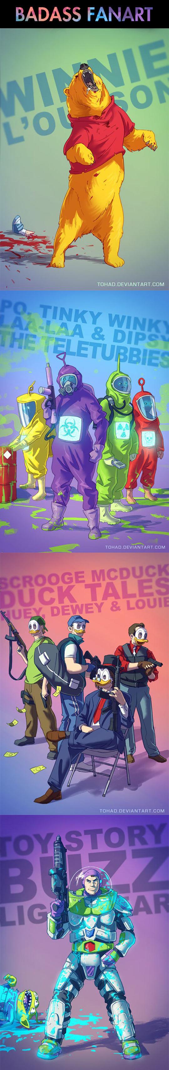 Creative interpretations of animated characters...
