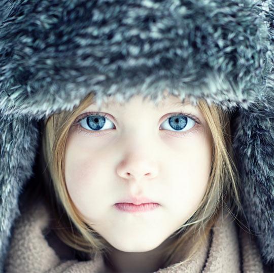 Fuzzy hat, amazing eyes…