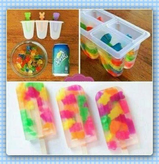 How to make gummy bear popsicles…