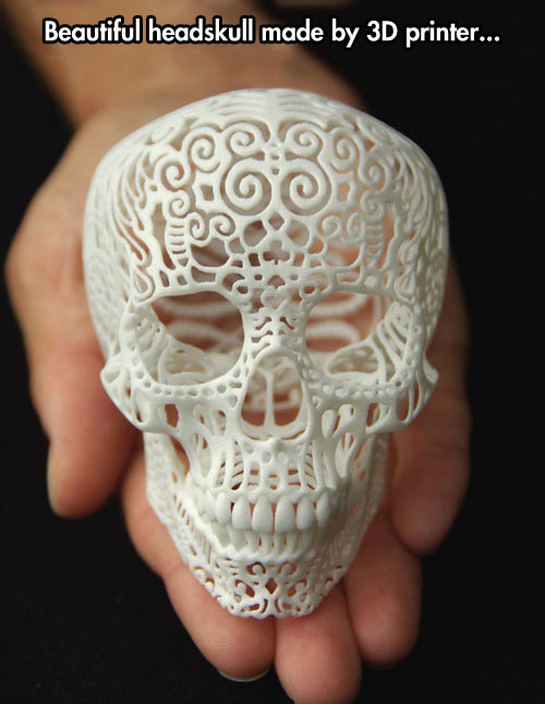 Headskull made with a 3D printer…