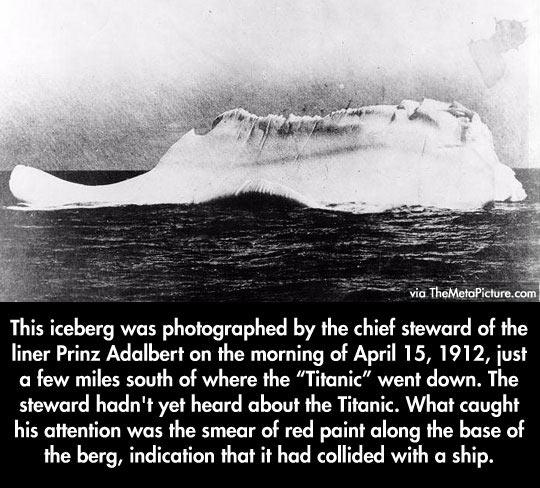 The iceberg that sank the Titanic…