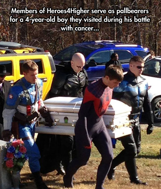 Sometimes, superheroes are real…