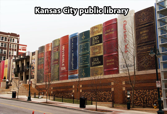 cool-library-Kansas-front-books-decoration