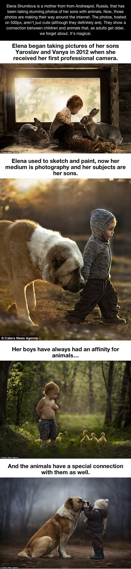 Connection between children and animals...