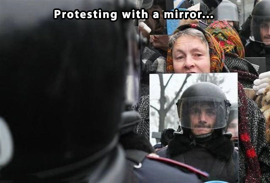 cool-old-lady-protesting-mirror