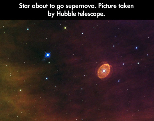 About to go supernova…