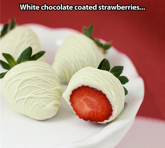Coated strawberries…
