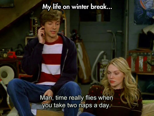 Life on winter break…