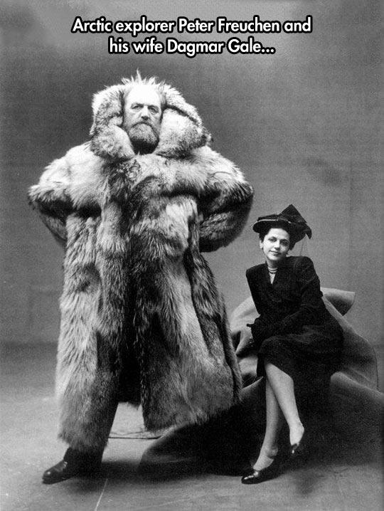 I'm wearing my polar bear coat honey…