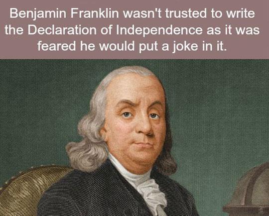 Oh, Benjamin…